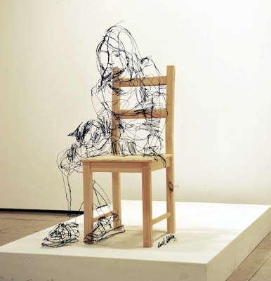 D E C E P T O L O G Y_ 3 scribbled wire illusions by David Oliviera.jpg