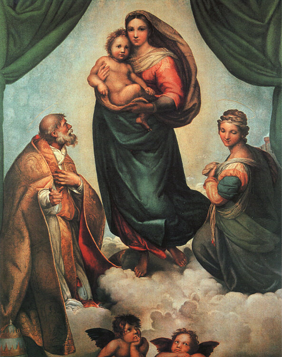 Sistine Madonna by Raphael Painting